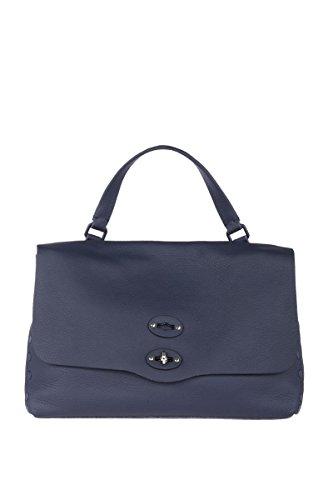 Zanellato Mujer 6134P635 Azul Cuero Bolso De Mano