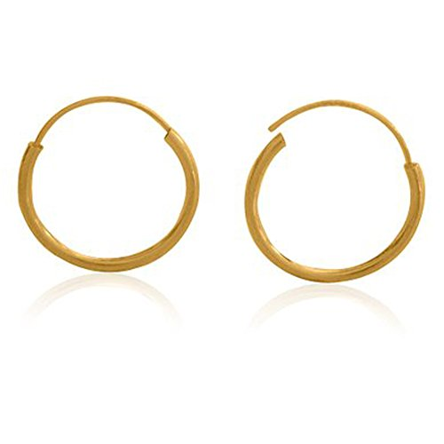 (14k Gold Filled Small Endless Hoop Earrings for Ears, Cartilage, Nose or Lips (Dia.20mm) )