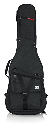 (Gator Cases Transit Series Electric Guitar Gig Bag; Charcoal Black Exterior (GT-ELECTRIC-BLK))