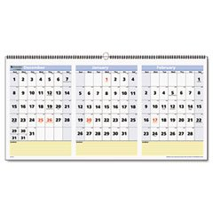 nce QuickNotes Three-Month Horizontal Wall Calendar ()