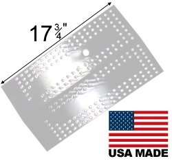 Modern Home Products BMHP9 Stainless Steel Heat Plate For Select Brinkmann and Charmglow Grills ()