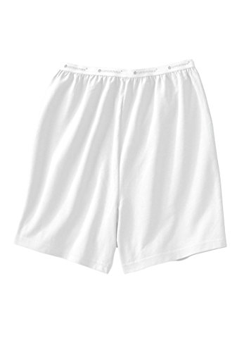 Comfort Choice Women's Plus Size 2-Pack Cooling Boxers White,10