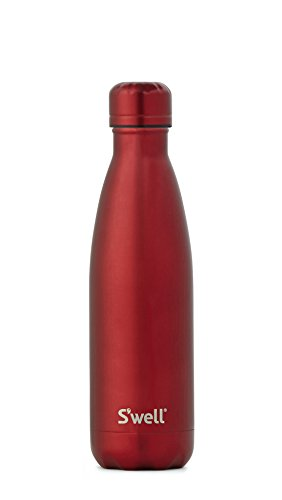 (S'well Vacuum Insulated Stainless Steel Water Bottle, 17 oz, Ruby)