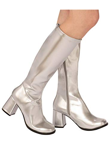 Rubie's Go-Go Boot Silver (Adult Boots) Adult Size Women's (Size 6) -