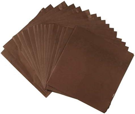 PETSOLA 10枚 キャンディラッパー チョコレート キャラメル ロリポップ用 アルミ箔紙 製菓 包装用紙 16x16cm - コーヒー