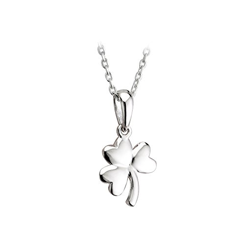ck Necklace Sterling Silver Made in Ireland (Shamrock Pendant)