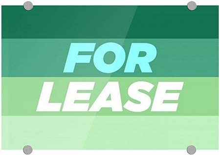CGSignLab Basic Teal Premium Brushed Aluminum Sign 8x3 5-Pack for Lease