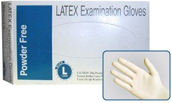 Skintx Powder-Free Latex Exam Gloves Large Case by Skintx