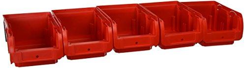 Allit 457046''ProfiPlus Set C 2'' Storage bin set (6 piece), Red by Allit