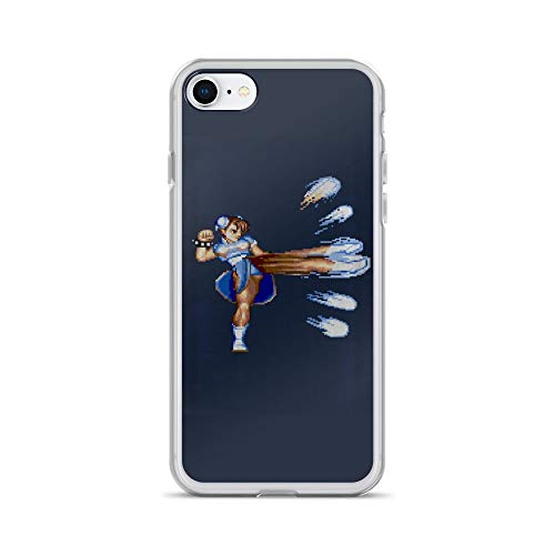 iPhone 7/8 Case Anti-Scratch Gamer Video Game Transparent Cases Cover Chun Li Fight Gaming Computer Crystal Clear
