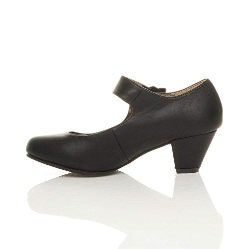 Negro para Ajvani Ajvani mujer Zapatos mujer para Negro Zapatos tUqw8ST