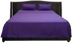 Brightlinen Purple Emperor (215 X 215 Cm) Sheet Set Solid(pocket Size: 34 Cm) 4pcs
