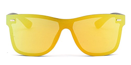 NYMSM Classic Mirrored Flat Lens Sunglasses Metal Frame Sunglasses , 100% UV400 - Kapalua Sunglasses