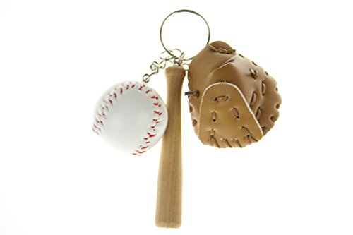 Rangers Baseball Mini Texas - INFMETRY Mini Baseball Bats Gloves Keychain Keyring Party Favors Supplies Gifts Sports Fans