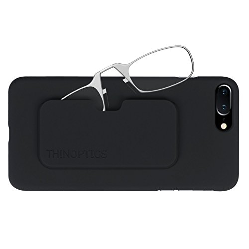 ThinOptics Reading Glasses + iPhone 8 Plus or iPhone 7 Plus Case | Clear Frames, 2.50 Strength