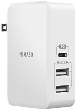 Amazon.com: NIMASO Cargador de pared USB C, 3 puertos, 61 W ...