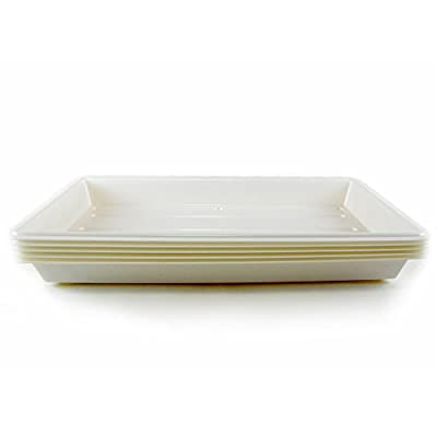 Quantity 1 - Perma-Nest Heavy Duty Plant Greenhouse Growing Tray - No Drain Holes - Makes a Great Drip Tray - Perfect for Seed Starts, Microgreens, Wheatgrass, More