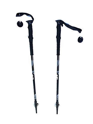 "WSD Telescopic Adjustable Ski Poles Alpine/Downhill Adult ski 115cm -135cm (45"" to 53"") Aluminum 7075 Pair with Baskets New"