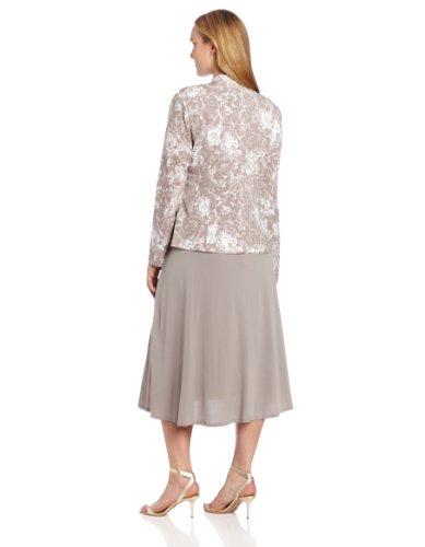 Jessica Howard Women's Plus-Size 2 Piece Crop Jacket with Sleeveless Waist Dress