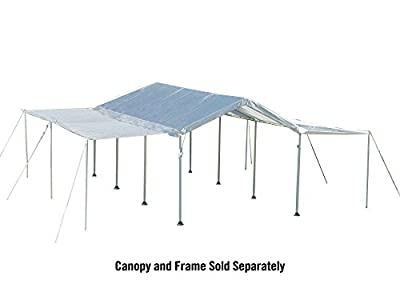 """ShelterLogic 10x20 Canopy Extension Kit for 1-3/8"""" and 2"""" Frame (White), Frame and Canopy Sold Separately"""