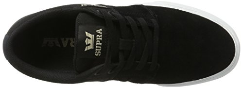 Supra Stacks Vulc II, Pantofole Uomo Nero (Black/White)