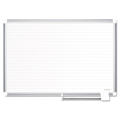 Ruled Planning Board, 72x48, White/Silver, Sold as 1 Each