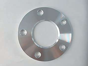 Four hub centric spacers bolt pattern 5 x 112mm CB 66.6mm thickness 6MM
