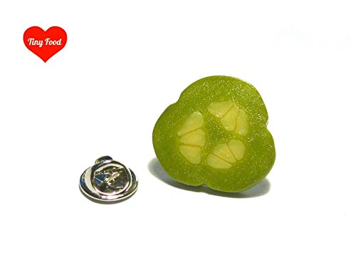 Pickle Slice Pin - Tiny Food Jewelry