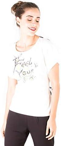 Smash! Camiseta Blanca Estampado Texto Posicional Camiseta Manga Corta Ancha con Cuello Redondo para Mujer de Verano T-Shirt Kairi: Amazon.es: Ropa y accesorios