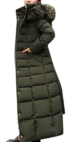 ZXFHZS Women Winter Faux Fur Hoodie Padded Down Parka for sale  Delivered anywhere in USA