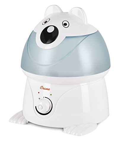Care Bears Room Decor (Crane USA Humidifiers - Polar Bear Adorable Ultrasonic Cool Mist Humidifier - 1 Gallon Adjustable Mist Output, Automatic Shut-off, Whisper-Quiet Operation for Home Bedroom Office Kids & Baby Nursery)