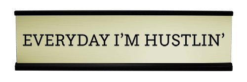 Everyday I'm Hustin' Desk Plate, Motivational Desk Plate, Motivational Desk Accessory by 904Custom