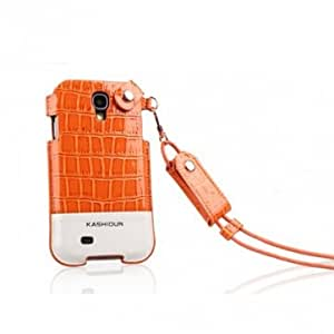 KASHIDUN V+ Series Leather Case for Samsung Galaxy S4 I9500 @ Color==Brown