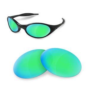 Lentes Polarizadas Oakley Sunglasses Eye Recambio de New para Green Jacket Sapphire Restorer O5Rqa