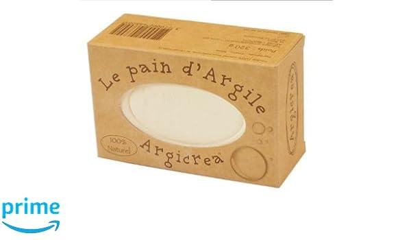 Argicrea - Pan de arcilla blanca (caolín) para cara, cuerpo y cabello, 100 % natural, 320 g, fabricado en Francia: Amazon.es: Belleza