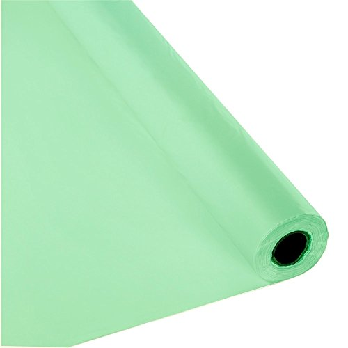 Schorin Plastic Party Banquet Table Cover Roll - 300 ft. x 40 in. - Disposable Vinyl Tablecloth (Mint -