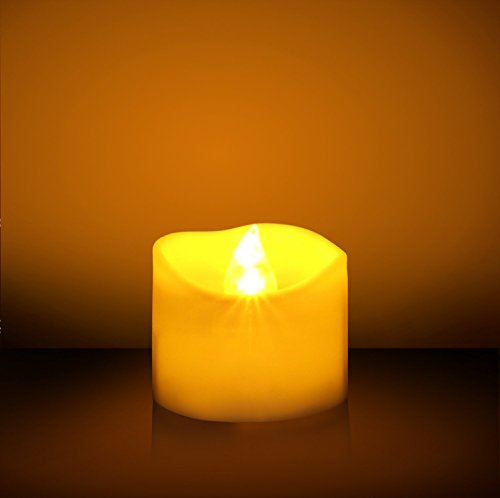 Idoo Flickering Flameless Led Tea Light Candles For