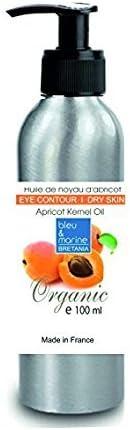 Aceite Orgánico de Nuez de Albaricoque 100 ml Prensado en Frío 100% Puro Vegetal Virgen Extra - Aceite Ecológico Seco Cabello y Corporal y Facial