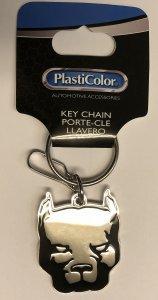 Pit Bull Metal Key Chain - Metal Bull Keychain