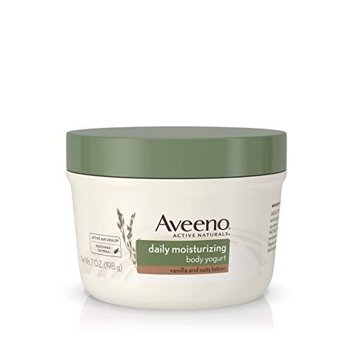Aveeno Daily Moisturizing Body Yogurt 7 Ounce Jar Vanilla/Oats (207ml) (3 Pack)