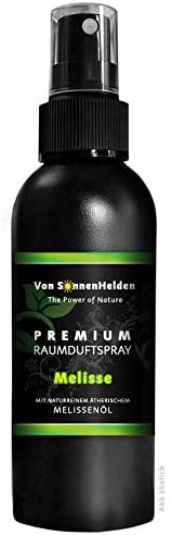 """Premium Raumduft Spray""""Melisse"""" • Mit natürlichem ätherischen Melissenölöl - ohne Alkohol. Langanhaltend, Intensiv, Geruchsneutralisierend, Wohltuend, Inspirierend, Entspannend, Erfrischend (150ml)"""