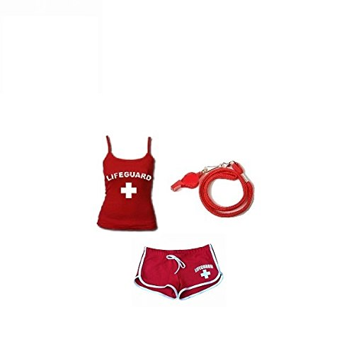 Lifeguard Costumes Shorts (WOMEN'S LIFEGUARD HALLOWEEN COSTUME-SMALL)