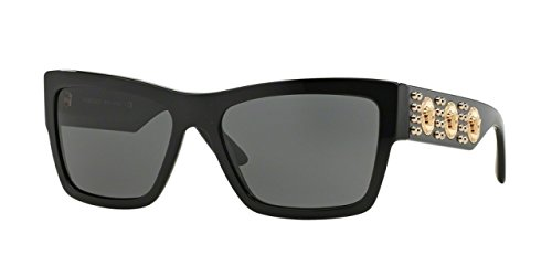 VERSACE 3 Medusas Black Sunglass VE - Versace Black Shades