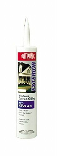 DuPont 07801 12 Pack 10.1 oz. Window Door and Siding Sealant with Kevlar, Clear by DuPont