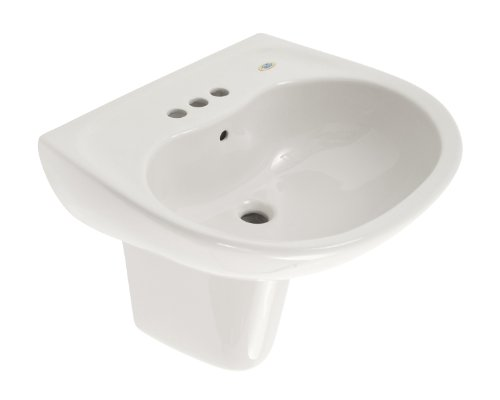 TOTO LHT241.4G#01 Supreme Lavatory and Shroud with 4-Inch Centers, Cotton - Center 4' Sink Bathroom