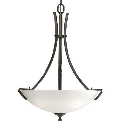 Progress Lighting P3757-20EBWB 3-Light Westin Compact Fluorescent Inverted Pendant, Antique Bronze