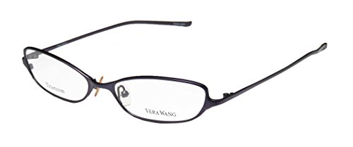 Vera Wang V34 Womens/Ladies Optical With Hard Case Designer Full-rim Titanium Eyeglasses/Spectacles (51-16-133, - Hard Frame Case Optical