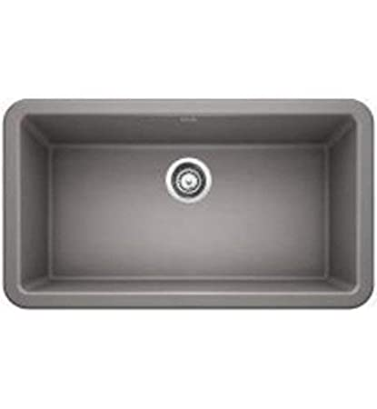 Blanco 401900 Ikon Granite 0-Hole Undermount Apron Front/Farmhouse Single  Bowl Kitchen Sink 33\