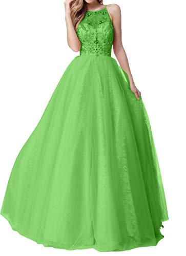 A Promkleider mia Spitze Abschlussballkleider Abendkleider Rock La Grün Linie Abiballkleider Braut Romantisch Steine Tuell vwnRYq