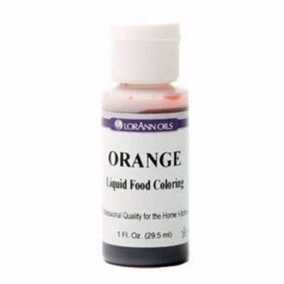 Lorann Oils Liquid Food Color, 1 oz, Orange